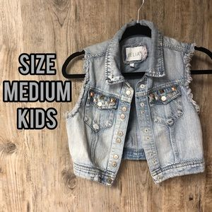 🎉HP🎉 Kids blue jean vest